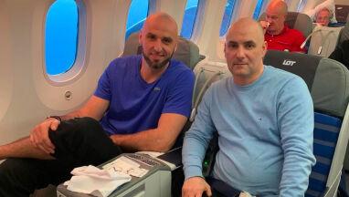 Gortat i Gollob w jednym samolocie.
