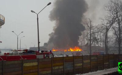 Pożar na wysypisku śmieci. Płonęła maszyna do sortowania odpadów