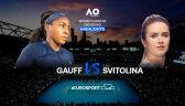 Skrót meczu Gauff - Switolina w 2. rundzie Australian Open