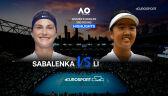 Skrót meczu Sabalenka - Li w 3. rundzie Australian Open