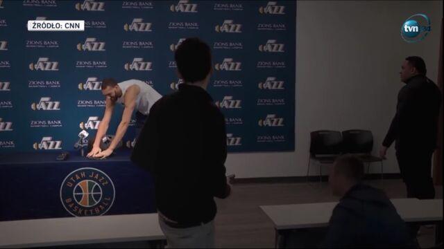 Rudy Gobert na konferencji Utah Jazz - koronawirus