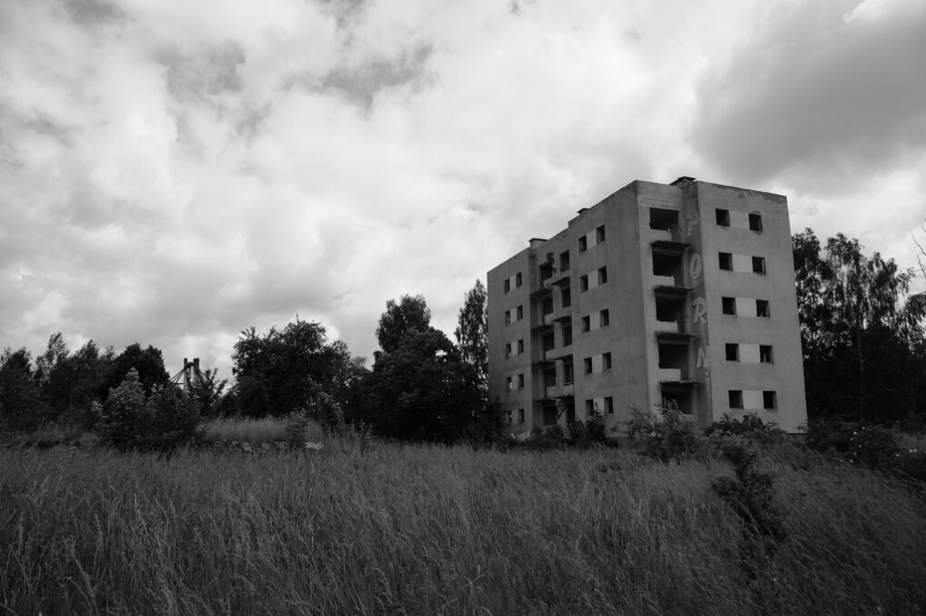 Opuszczona miejscowość w której obecnie mieszka 12 osób