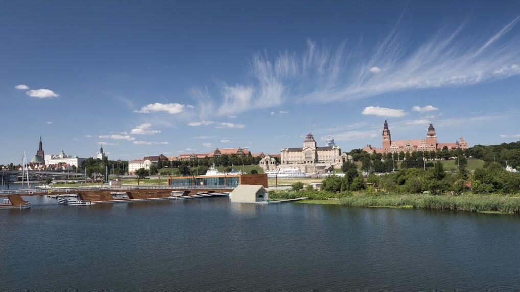 Pływający dom na Odrze ma zacumować naprzeciwko położonych w centrum miasta