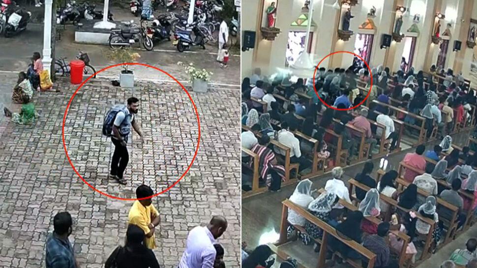 Z plecakiem wszedł do kościoła, niedługo później doszło do eksplozji. Nagranie z monitoringu