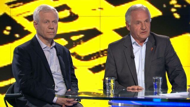 """Marek Jurek i Zbigniew Bujak w """"Faktach po Faktach"""""""