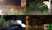 Skutki nocnych burz w relacjach Reporterów 24
