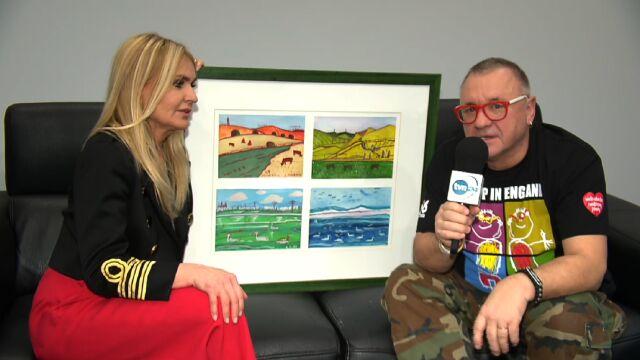 Monika Olejnik przekazała dzieło sztuki na WOŚP