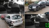 Kierowca samochodu osobowego zniszczył 17 aut