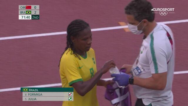 Formiga zeszła z boiska w drugiej połowie meczu Chiny - Brazylia
