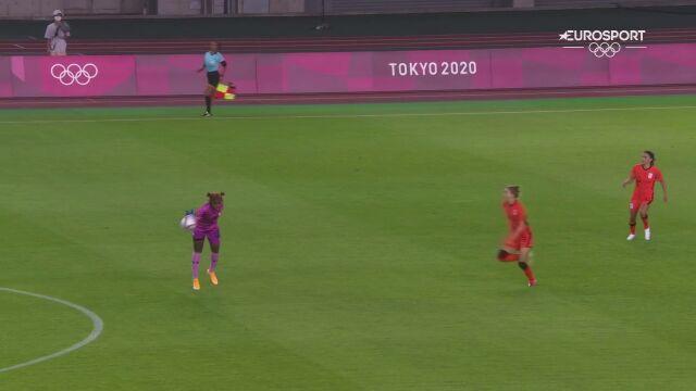 Piłka nożna kobiet. Zambia- Holandia 0:1 (gol Miedema)
