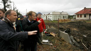 Premier Donald Tusk odwiedził miejsca zniszczone przez nawałnicę