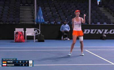 Skrót meczu Vecic - Baszak w półfinale rywalizacji juniorek w Australian Open