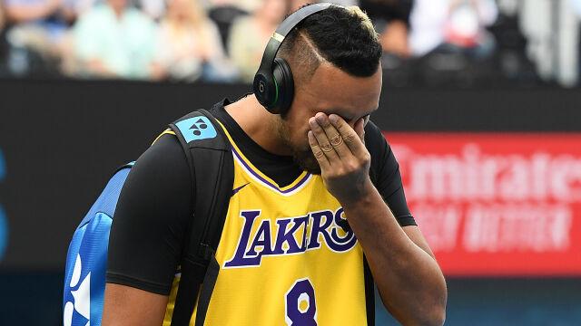 """Kyrgios wyszedł na kort w koszulce Bryanta. """"Koszmarne wieści zmotywowały mnie do walki"""""""