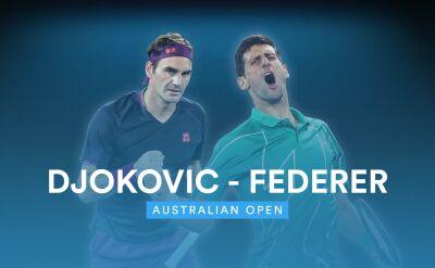 Skrót meczu Djoković - Federer w półfinale Australian Open