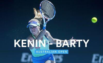 Skrót meczu Barty - Kenin w półfinale Australian Open