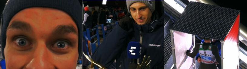 Kontrola na górze, Złoty Orzeł na stoliku Eurosportu. Kulisy konkursu w Oberstdorfie