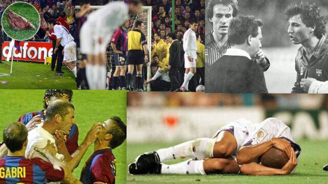 Zdeptany sędzia, Figo i świński łeb, wybuch Zidane'a. Pamiętne momenty El Clasico