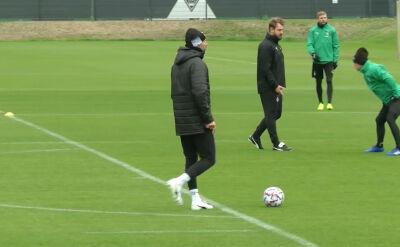 Trening piłkarzy Borussii Moenchengladbach przed meczem z Interem w 1. kolejce Ligi Mistrzów