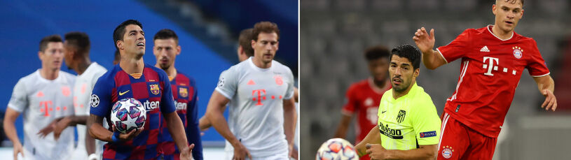 Dwa mecze Suareza z Bayernem, 12 straconych goli.