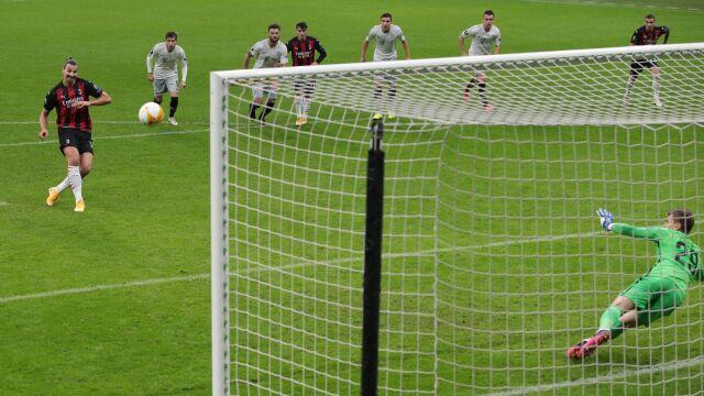 Ibrahimović zmarnował karnego. Milan i tak zabawił się w Lidze Europy