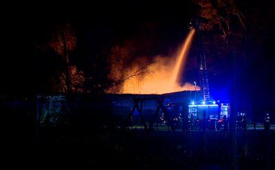 Pożar hali firmy recyklinowej