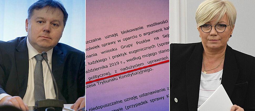 """""""Kwalifikowane bezprawie"""". Bunt w Trybunale: sędzia dubler chce pilnej dymisji prezes Przyłębskiej. Mamy pisma"""