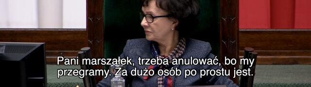 """""""Stała się rzecz bulwersująca, dotąd niespotykana w historii Sejmu"""""""