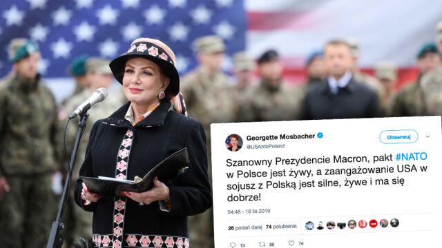 Ambasador Mosbacher odpowiada na słowa Macrona o NATO