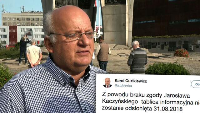 """Nie odsłonią tablicy poświęconej Kaczyńskim. Przez """"brak zgody"""" prezesa PiS"""