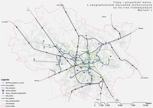 Pierwszy wariant wrocławskiego metra