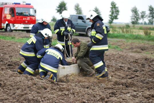 W akcji brało udział 5 strażaków i myśliwy