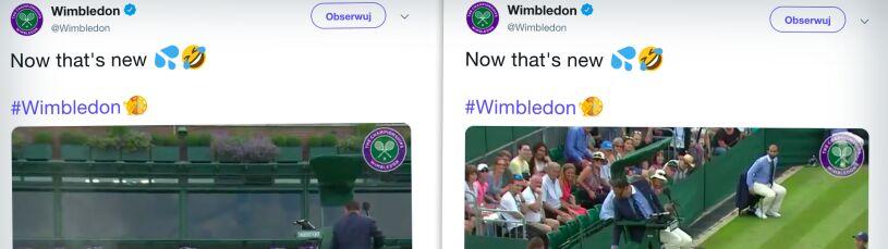 Wodny atak na Wimbledonie.