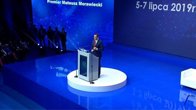Premier Morawiecki przemawiał w sobotę podczas konwencji PiS w Katowicach