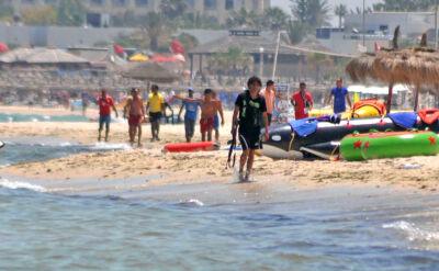 Zamachowiec z Tunezji sfotografowany na plaży