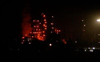 Pożar rafinerii ropy naftowej