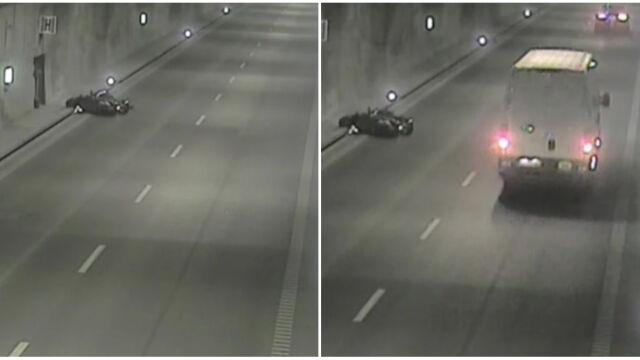 Przewrócił się w tunelu, przygniótł go skuter. Nie mógł wstać, nikt nie pomógł