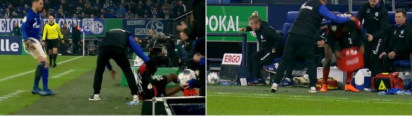 Awantura przy linii bocznej. Piłkarz Herthy i trener Schalke ukarani czerwonymi kartkami