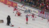 Upadek Bolszunowa w półfinale sprintu stylem klasycznym w Trondheim