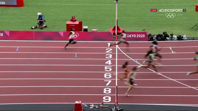 Tokio. Kryscina Cimanouska w biegu eliminacyjnym na 100 metrów