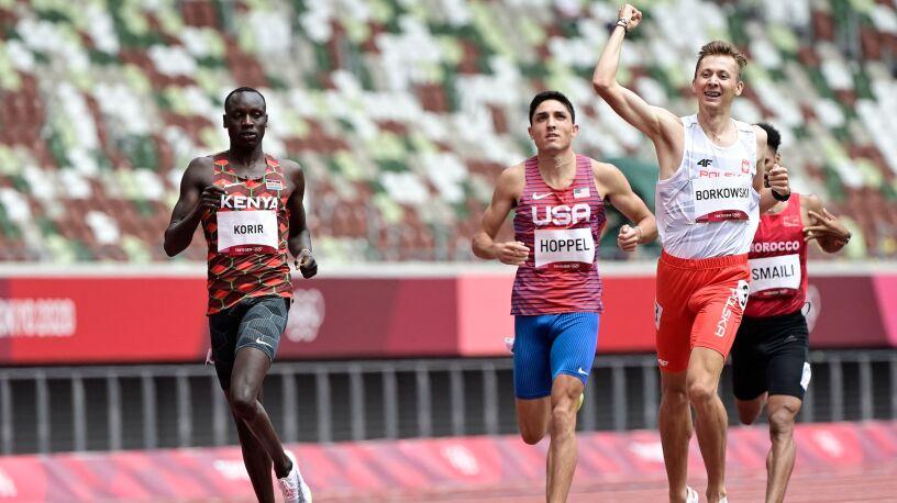Znakomity finisz Borkowskiego. Polacy wbiegli do półfinału na 800 m