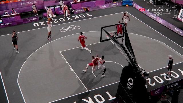 Tokio. Gorszy moment Polaków, Holendrzy prowadzili 8:5 w meczy koszykówki 3x3