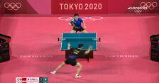 Tokio. Skrót meczu Longa Ma – Zhendong Fan w finale turnieju tenisa stołowego mężczyzn