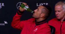 Piwo na raz. Kyrgios gwiazdą na konferencji po Pucharze Lavera