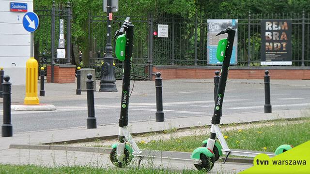 Kary za złe parkowanie hulajnóg