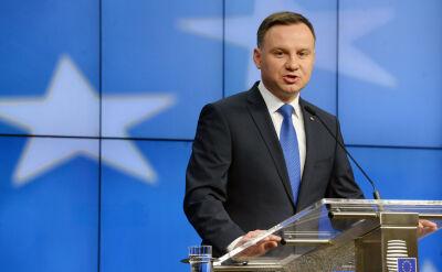 Prezydent Andrzej Duda po spotkaniu z przewodniczącym Donaldem Tuskiem