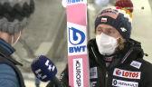 Kubacki po konkursie w Oberstdorfie