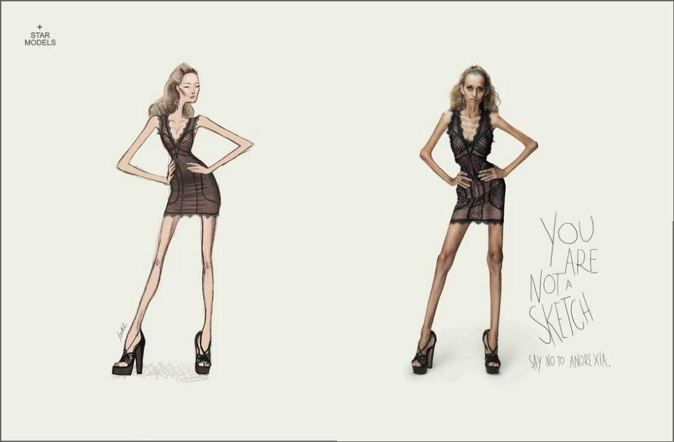 """""""Nie jesteś szkicem"""". Modelki-szkielety przeciw anoreksji"""