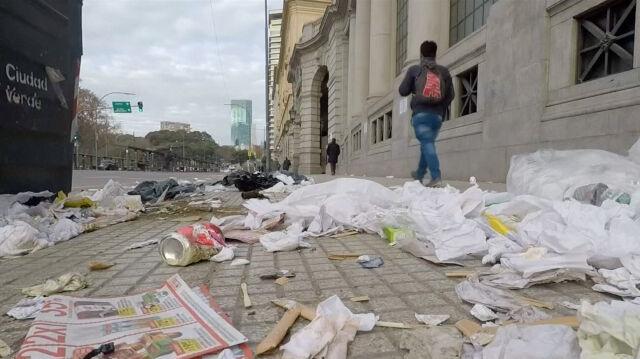 Bez pociągów, autobusów i taksówek. Buenos Aires opustoszało