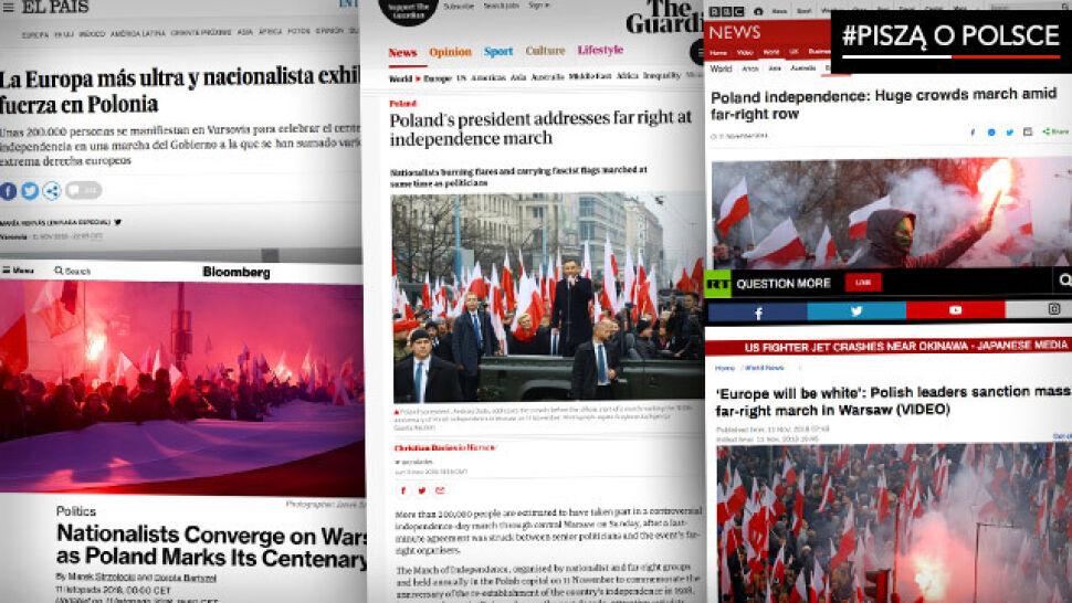 """""""Ekstremalna Europa pokazuje siłę  w Polsce"""". Zagraniczne media o marszu"""