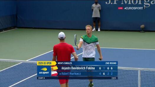 Hurkacz przegrał z Davidovichem Fokiną w 2. rundzie US Open